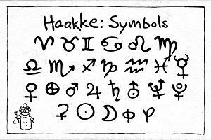 Haakke Symbols