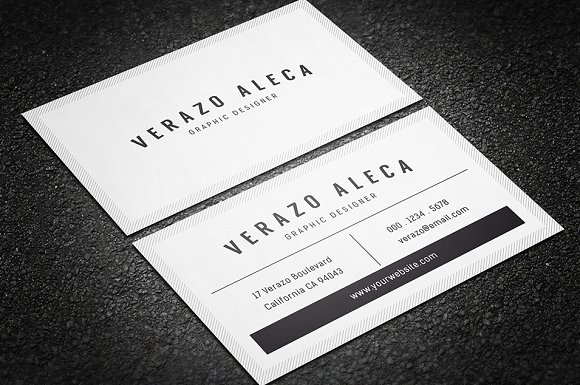 Clean minimal business card template business card templates clean minimal business card template business card templates creative market wajeb Gallery