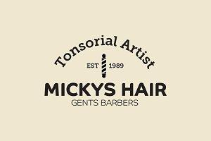 Barbers Logo & 8 Bonus Icons