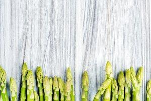 Green fresh sparagus
