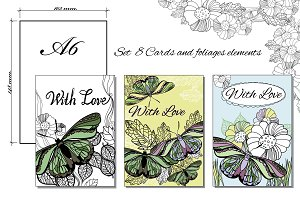 Set of 8 Cards A6
