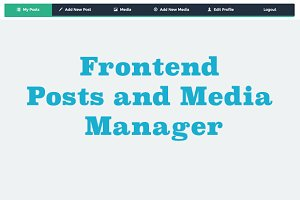 WordPress Plugins: WordPress Eden - Frontend Post and Media Manager
