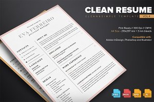 Clean Resume Template Vol.4