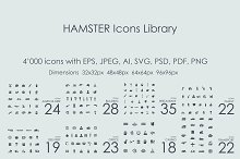 4000 HAMSTER Icons Library