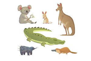 Cartoon Australian Animals