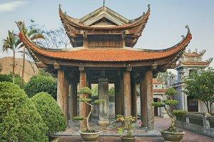 Oriental pagoda in Asia