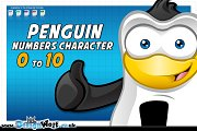 Penguin Numbers Character – 0 to 10