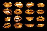 Set of 16 glamour orange lips