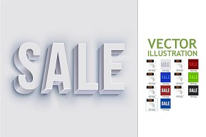 Volumetric Sale Lettering