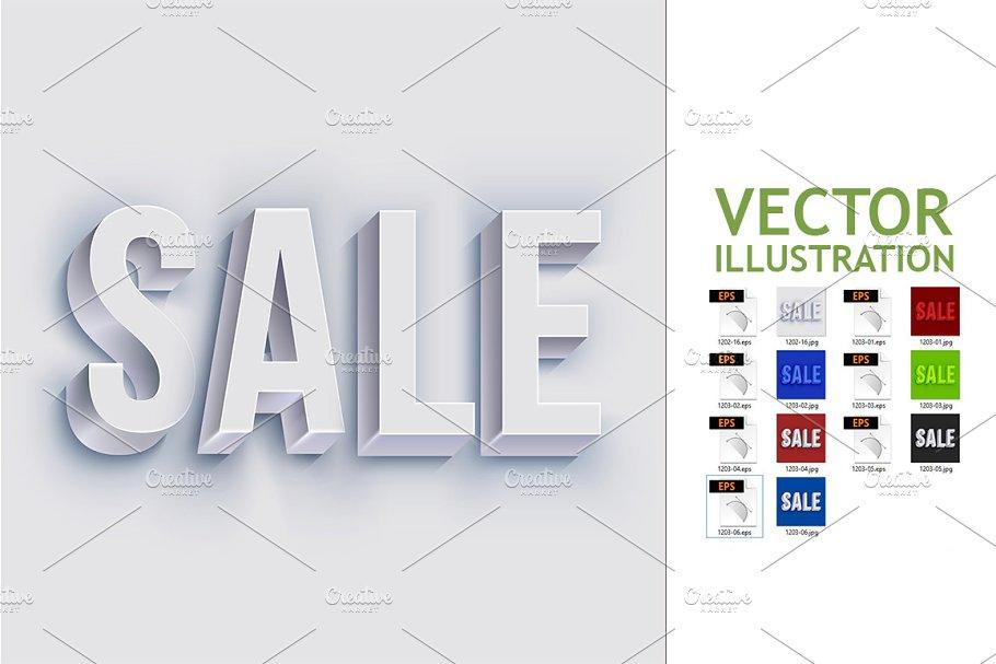 Volumetric Sale Lettering