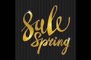 Spring Sale. Gold glamor, light
