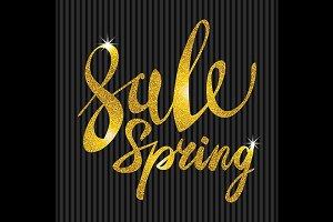 Spring Sale. Gold glamor, light