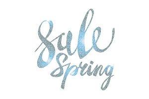 Spring Sale. silver vector glamor
