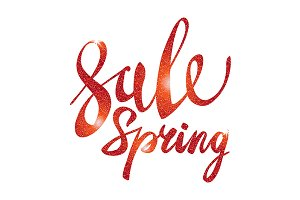 Spring Sale. red vector light