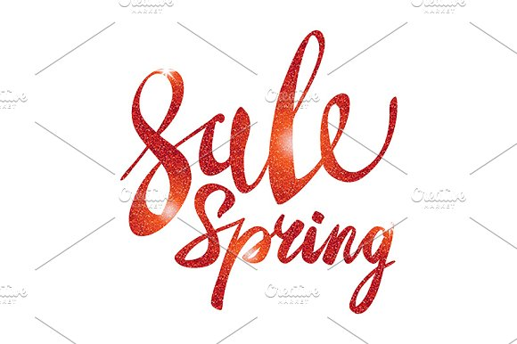 Spring Sale. red vector light - Graphics