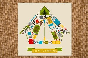 Love Camping Concept Tent Shape