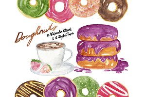Doughnuts Watercolor