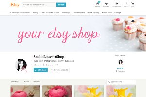 Etsy Shop Cover Photo - cupcakes 2