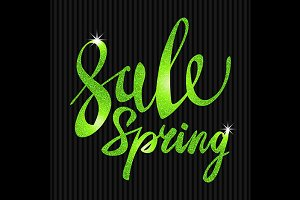 Spring Sale. Green glamor, light