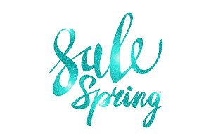 Spring Sale. blue light vector