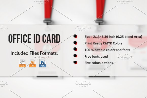Office ID Card Template Card Templates Creative Market - Office card template