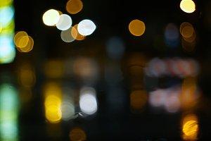 rainy citylights