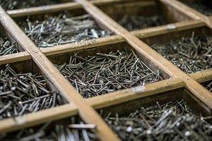 Vintage steel nails
