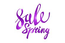 Spring Sale. purple, pink, violet