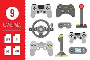 Flat gamepads