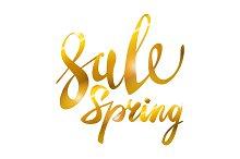Spring Sale. Gold glamor, light,