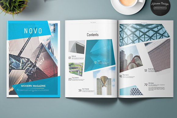 Novo Modern Magazine ~ Magazine Templates ~ Creative Market