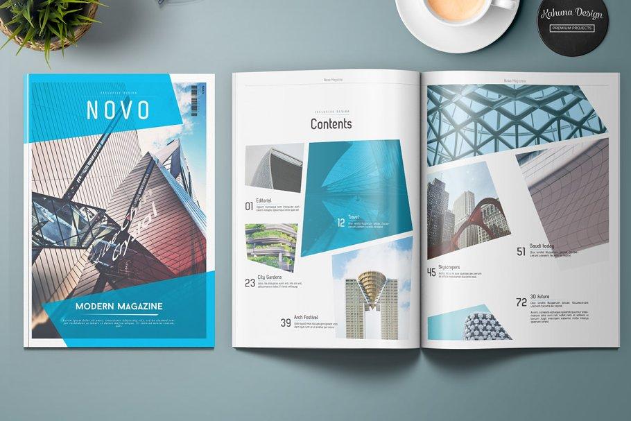 Novo Modern Magazine Magazine Templates Creative Market