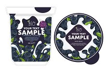 Blueberry Yogurt Packaging Design