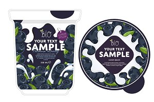 Blueberry Yogurt Packaging Design