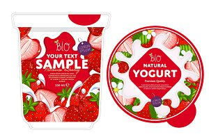 Strawberry Yogurt Packaging Design