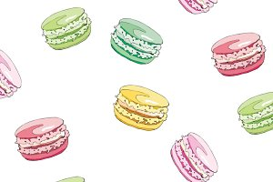 7 vector images of macarons