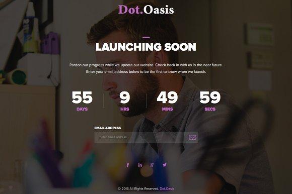 Dot.Oasis - Responsive Coming Soon - HTML/CSS