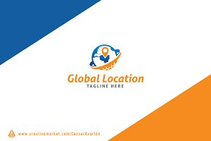 Global Location Logo Template