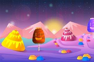 Candyland Game Landscape