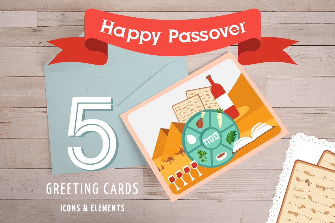 Passover Cards Icons And Elements Illustrations Creative Market