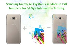 Galaxy A8 3d Crystal Case Mock-up