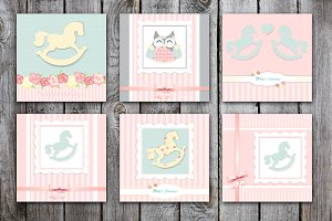 It's a girl. cute greeting cards