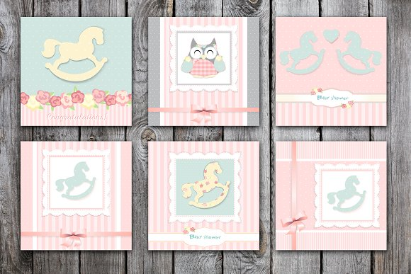It's a girl. cute greeting cards - Cards