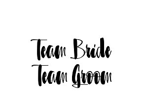 team bride team groom wedding svg