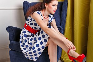 PinUp Girl Dress shoes high heels.