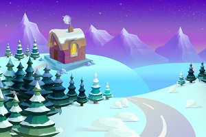 Fairytale Wintertime Game Background