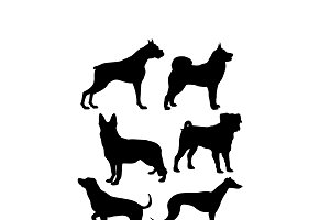 dogs svg dxf