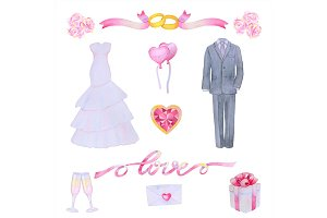 Wedding Watercolour Set