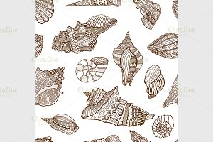 seashell seamless pattern