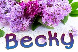 Becky Font Family